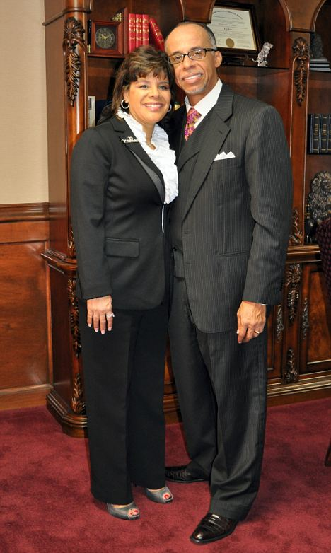Believers: Mrs Knox, pictured with her husband Bishop Levy Knox, praised God for healing her